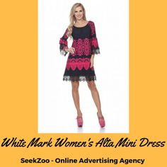 White Mark #Women's Alta Mini Dress - 3 Colors  This dress is built to flatter with its shift cut and elastic scooped neckline that is designed to be worn on or off the shoulder. Colors: Fuchsia, White, Brown  #Fashion #adorabledress #Minidress #summerdress #USA