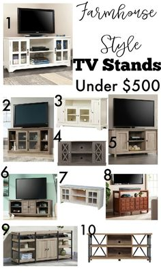 Affordable Farmhouse Style TV Stands and TV Media Centers Under $500