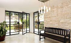 עיצוב בית בסגנון קלאסי מודרני Entrance, Divider, Bedroom, House, Bricks, Furniture, Design, Home Decor, Entryway