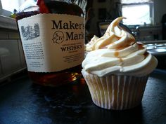 This bourbon icing goes well on cupcakes, brownies, or basically anything. #icing #bourbon