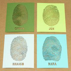 paper cut fingerprints. unique art