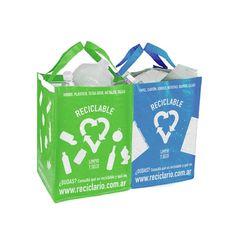Reciclario: bolsas para separar los residuos.