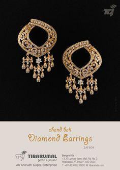 Chand Bali Diamond Earrings from Tibarumal Gems & Jewels