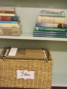 Make your own file basket..why didn't I think of that?!