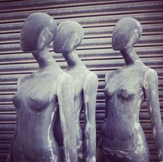 Our #style Queen #mannequins in our London workshop #bespoke #renovations #texture #display #vm www.panachedisplay.co.uk