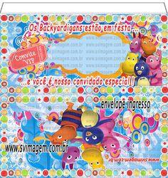 SV Imagem Personalizados - Silmara Vintem: Convite Ingresso e Envelope Flip Top Personalizado no Tema Backyardigans