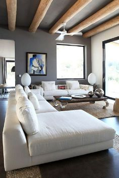 Creative Living Room Color Schemes [Paint Colors and Color Combination] Living Room Color Schemes, Living Room Grey, Living Room Sofa, Living Room Designs, Living Room Decor, Living Room Ceiling Ideas, Living Rooms, Easy Home Decor, Home Decor Trends