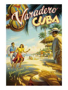 Varadero, Cuba Giclee Print by Kerne Erickson at AllPosters.com