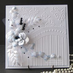 Pam's Crafts: One Embossing Folder! Three Cards. All-occasion 3-in-1 Embossing Folder & Stamp Set