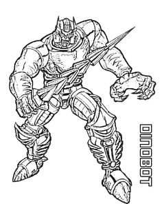 Dinobot Transformers Beast Wars Coloring Page