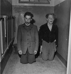 Lee Miller. Buchenwald guards after liberation