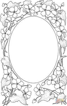 Desenho de Porta-retratos para colorir | Desenhos para colorir e ...