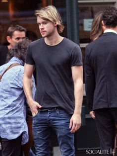 Chord Overstreet hangs out in Soho in New York City. July 13, 2013.