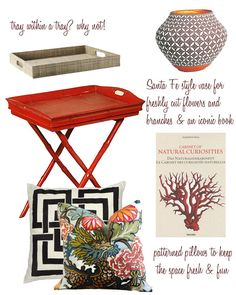 End table styling with West Elm, Chiang Mai Dragon & Trina Turk