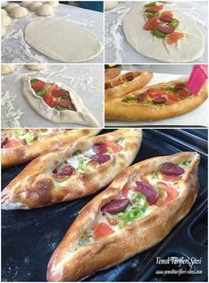 Karışık Pide Tarifi Pita Recipes, Cooking Recipes, Snack Recipes, Turkish Recipes, Italian Recipes, Ethnic Recipes, Pizza Stromboli, Gozleme, Pain Pita