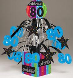 Celebrations 80th Birthday Mini Cascade Centerpieces