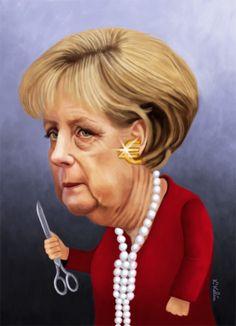 ANGELA MERKEL caricature
