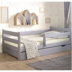 Lugo European Toddler Convertible Toddler Bed with Drawers Nordville Size: European Toddler x Colour (Bed Frame): Grey Cabin Bed With Slide, Toddler Bed With Slide, Cabin Bed With Storage, Toddler Bed With Storage, Toddler Bed Frame, Bed Storage, Toddler Cabin Bed, Toddler Rooms, Toddler Trundle Bed