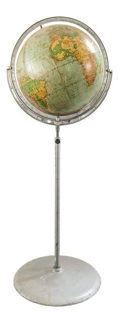 1940s Floor Globe by Rand McNally on Chairish.com