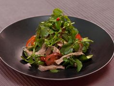 Get Warm Beef and Watercress Salad: Bo Xao Sa Lat Song Recipe from Cooking Channel