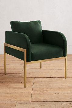 Slide View: 1: Velvet Ardmore Chair
