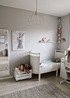 Calming, neutral kids room