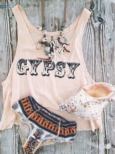 Gypsy t-shirt, perfect for the beach