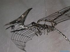 Flugsaurier Mobile Drahtskulptur.