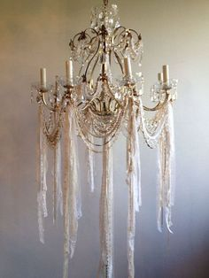 Shabby Chic Home Decor Shabby Chic Chandelier, Chandelier Lighting, Crystal Chandeliers, Shabby Chic Style, Shabby Chic Decor, Bedroom Lighting, My New Room, Shabby Chic Furniture, Decoration