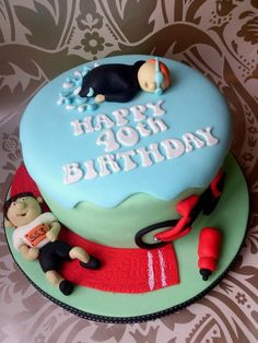 Triathlon cake Cake by dollybird - rob would love this if i could figure out how to make it by May