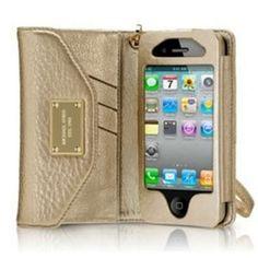 Michael Kors iPhone Wristlet - would LOVE in black or tan!