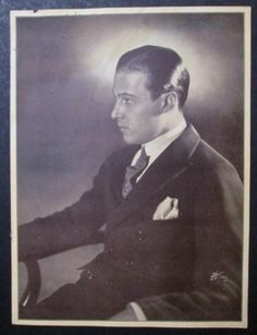 Old 9 x 12 Hand Signed Image - Rudolph Valentino