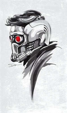 Watched Guardians of The Galaxy few days ago, it was awesome! Especially love Star-Lord this character. Love his helmet as well. So I decided to draw the helmet. Hope you guys like it!!...