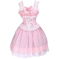dacb8e46ea9c Partiss Women's Sweet Ruffles Bow Halter Cute Victorian Lolita Dress at Amazon  Women's Clothing store: