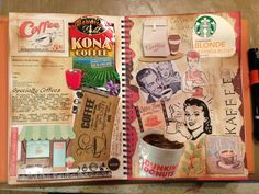 Idea: Drown a page in water and let it dry and it gives it a vintage look. Did this a long time ago and it was really cool!