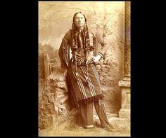 Comanche Chief Quanah Parker, circa 1890, reprint of the original photograph.  Smithsonian