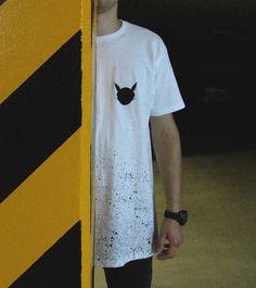 Koszulka BRZYDKI KOT - ręcznie malowana na zamówienie