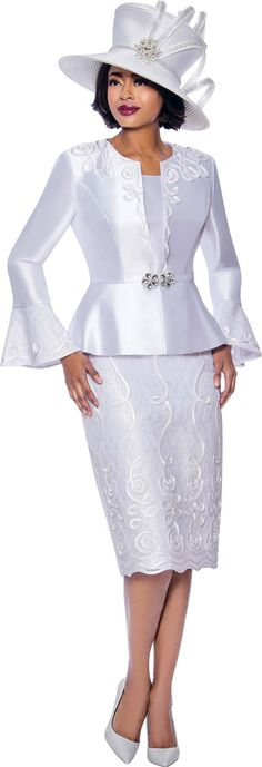 Susanna Skirt Suits for Church - Spring 2020 - ExpressURWay Source by arlinemoorer church women dress Women Church Suits, Suits For Women, Ladies Suits, Peplum Jacket, Peplum Dress, Church Hats, Mode Chic, Church Dresses, Three Piece Suit