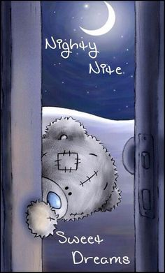 "Cute Tatty Teddy: Just peeping in to say ""Good night, Sweet dreams! Tatty Teddy, Cute Images, Cute Pictures, Teddy Bear Pictures, Teddy Images, Good Night Sweet Dreams, Nighty Night, Night Night Sleep Tight, Bear Wallpaper"