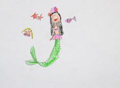 princess mermaid. pencil. 2013. A4.