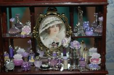 Miniature Dollhouse Vanity Collection by Sharonideas Lavender | eBay