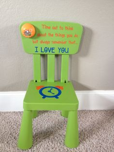 Personalized Time Out Chair with Timer light green & Pin by Alison Stephen on Kashton | Pinterest islam-shia.org