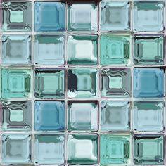 Contour Blue Glass Brick Kitchen Bathroom Wallpaper Departments Diy At B Q