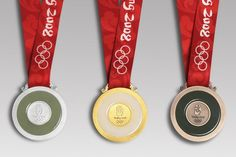 Beijing 2008 Olympic medals, mounted with nephrite Olympic Medals, Summer Olympics, Beijing, Over Ear Headphones, Evolution, Jade, Accessories, Toolbox, School