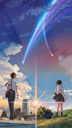 Anime Backgrounds Wallpapers Your Name - Anime Anime Wallpaper Download, Anime Backgrounds Wallpapers, Animes Wallpapers, Cute Wallpapers, Iphone Wallpapers, Movie Wallpapers, Wallpaper Animes, Anime Wallpaper Phone, Anime Scenery Wallpaper