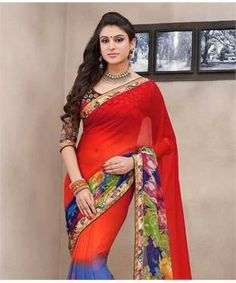 Bamberg Georgette Saree with Blouse | I found an amazing deal at fashionandyou.com and I bet you'll love it too. Check it out!