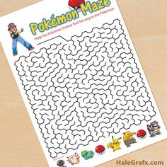 Click her to download FREE Printable Pokémon Mazes!