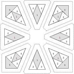 Sample printout from Foundation Factory: Kalideoscope Blocks