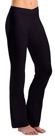 Motionwear's V-Waist Pants offer a snug fit through the hips and legs with a fashionable boot cut leg opening.