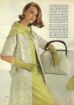 """""""The perfect ensemble for traveling straight through spring and summer"""" 1960s"""
